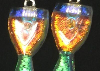 k-kiln-earrings-orange-Bedard, Karen