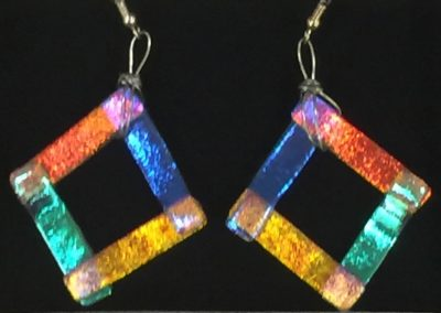 k-square earrings-Bedard, Karen